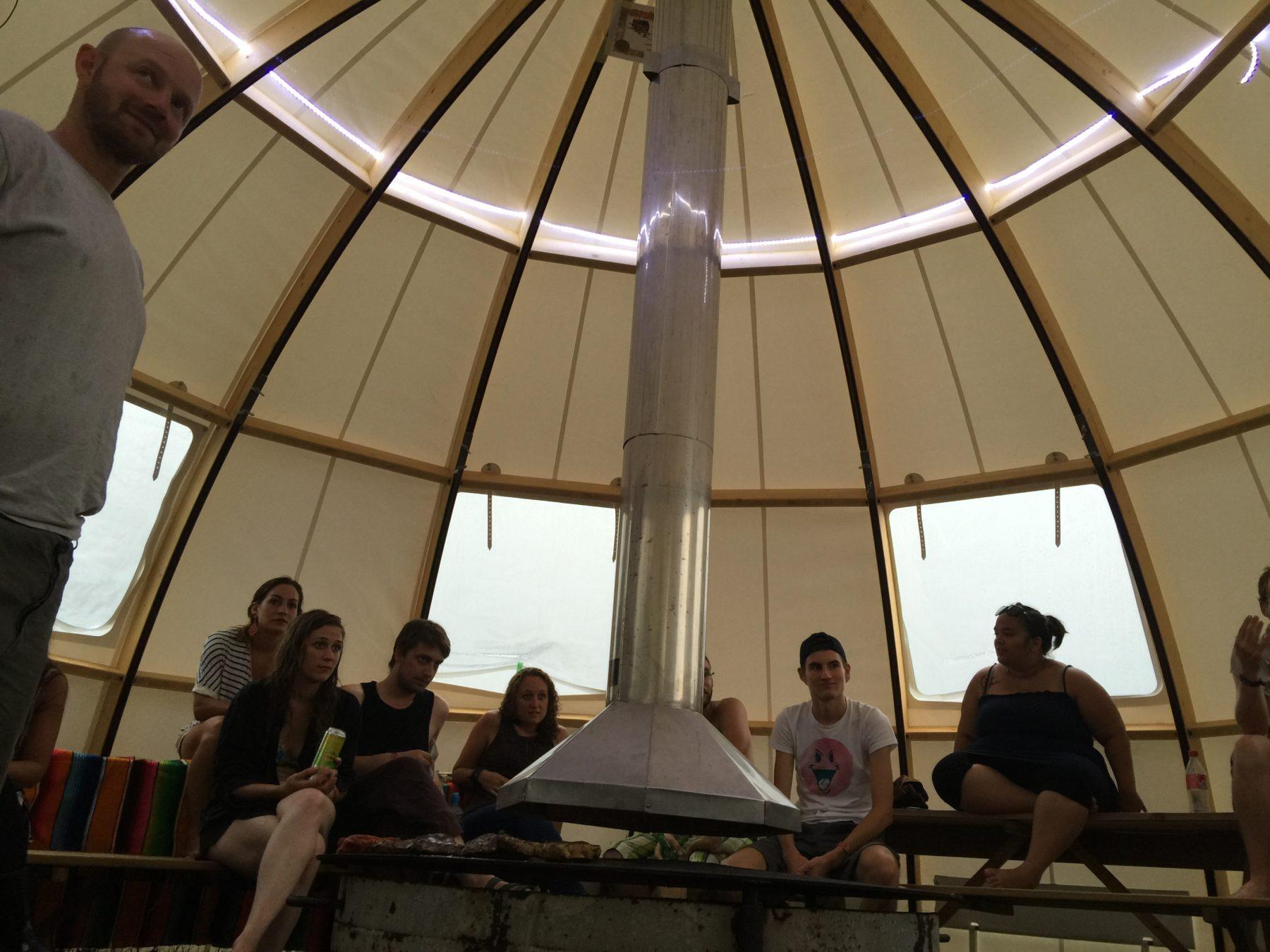 Igloo avec Hotte et LED plafond