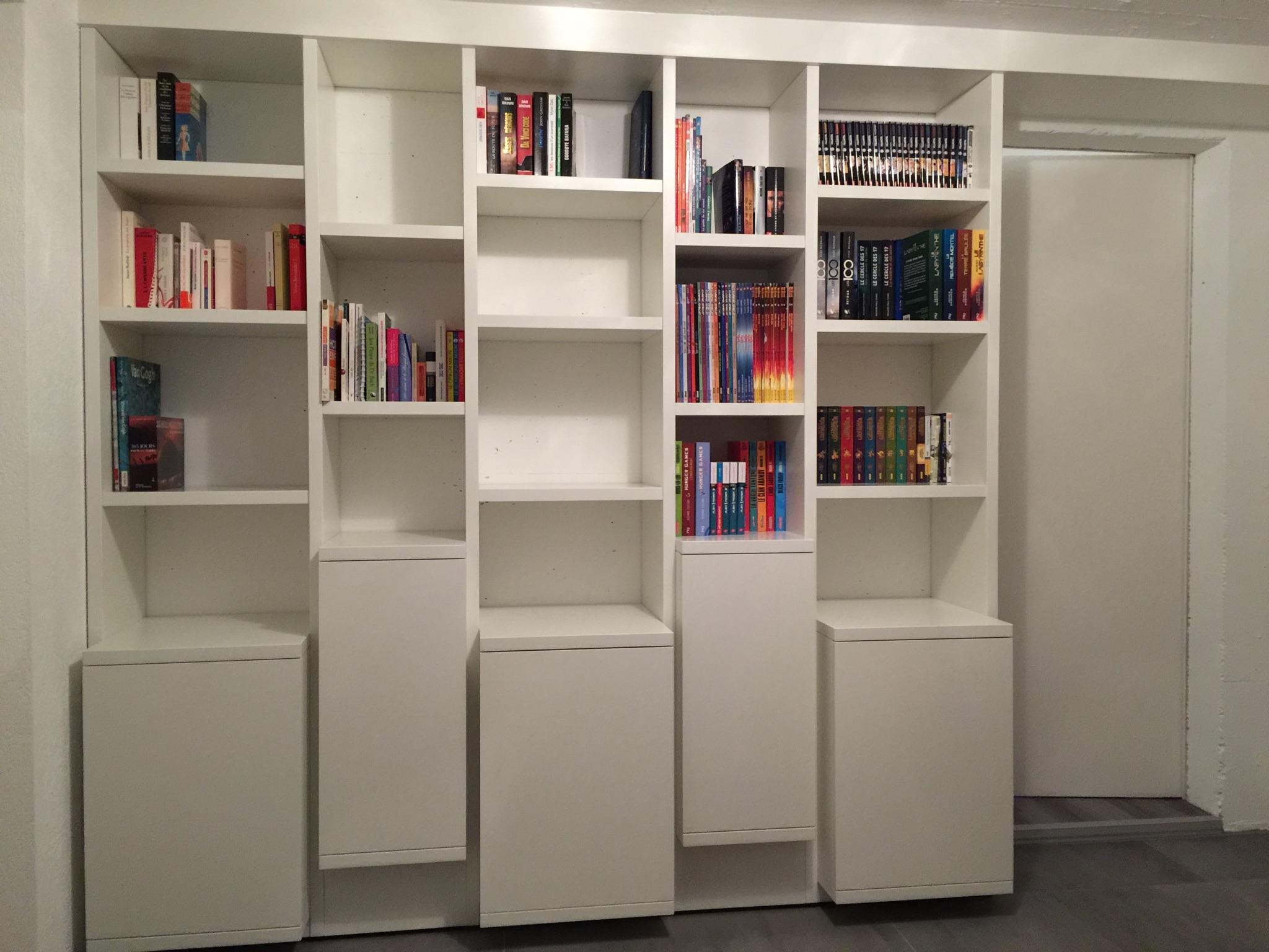 Bibliothèque avec casiers