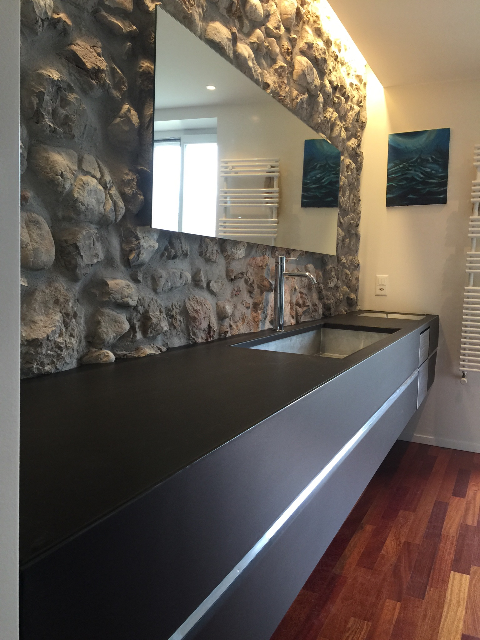 Zinc Dans Salle De Bain ~ meuble salle de bain en zinc ap design