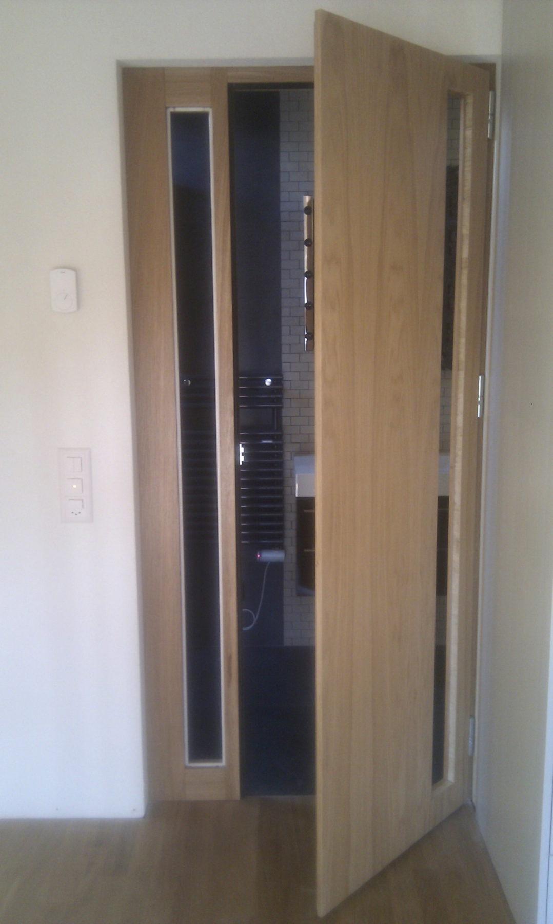 Porte de salle de bains vitrée en Chêne - AP Design